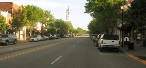 a wide street view of downtown Camden SC