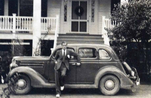 History at Bloomsbury In Bed and Breakfast in Camden, SC features a c 1936 ford