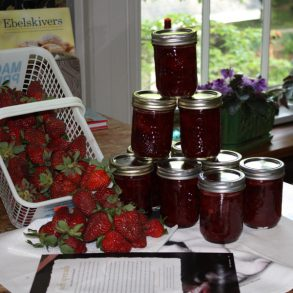 Only fresh canned jams are served at Bloomsbury Inn, strawberry is a favorite