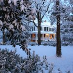 Fresh fallen snow adorns Bloomsbury Inn