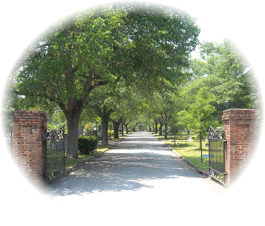 Painting of Quaker Cemetery front gate