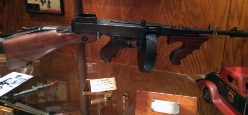 display of Dillinger's guns