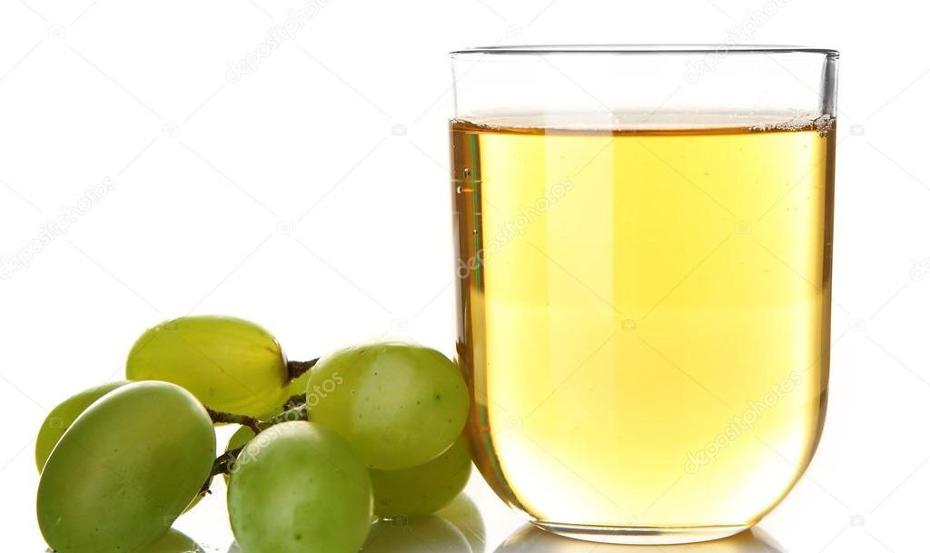 WHite grape juice punch with grapes