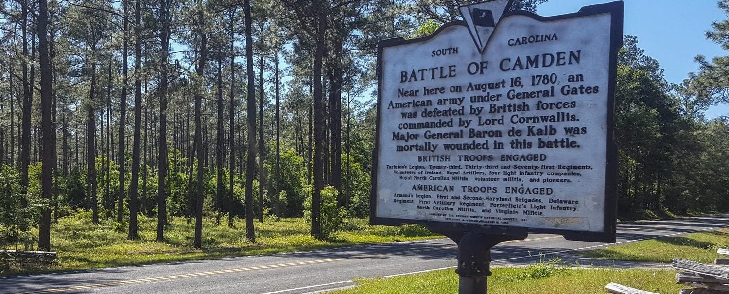 Battle of Camden historic marker. One of the many things to do in Camden, SC.