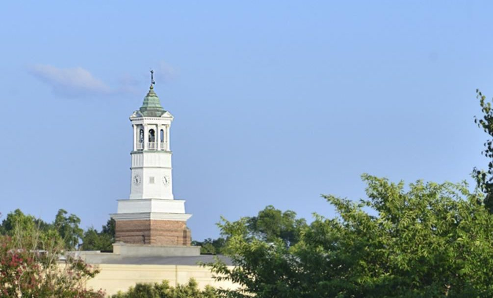 Clock tower, center of Camden SC