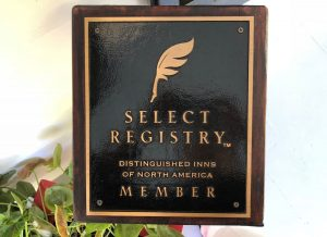 Bloomsbury Inn, a proud member of Select Registry, presents their membership plaque upon arrival.
