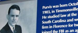 Pho of Melvin Purvis, native South Carolinan, is highlighted for his FBI career