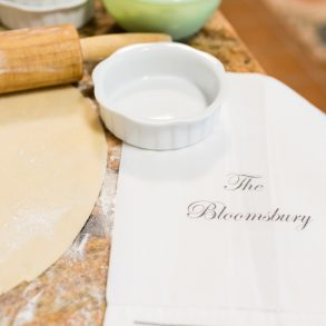 The kitchen at bloomsbury inn is always busy. Pie crust is all rolled out for the breakfast quiche.