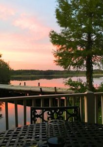 A sunset view at the Boykin Millpond Steakhouse.