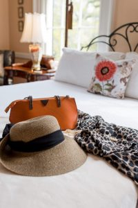 Hat and purse