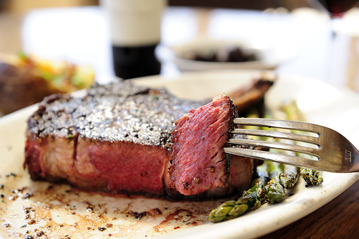 A perfect steak from the Boykin Millpond Steakhouse.