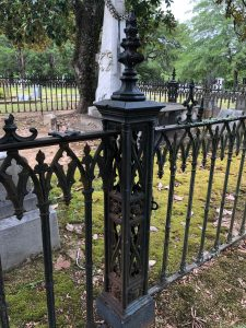 Square iron fence post in Camden SC