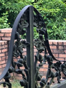 Iron Work Detail of a beautiful floral arch.